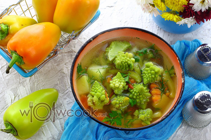 Суп с романеско, рецепт с фото