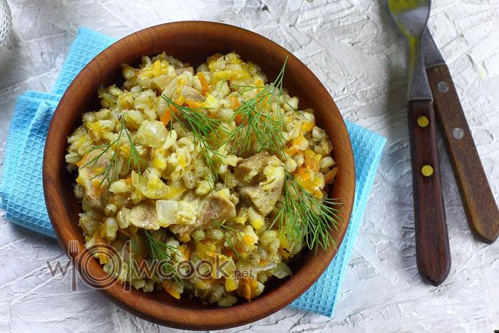перловая каша с мясом рецепт приготовления