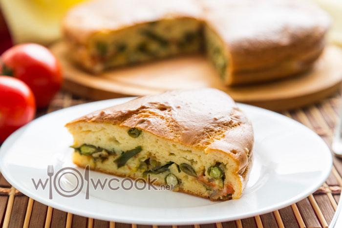 вкусный пирог с фасолью