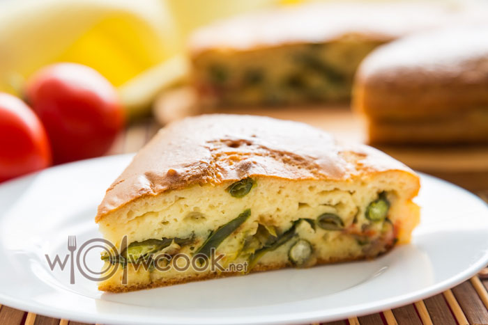 рецепт простого пирога с фасолью