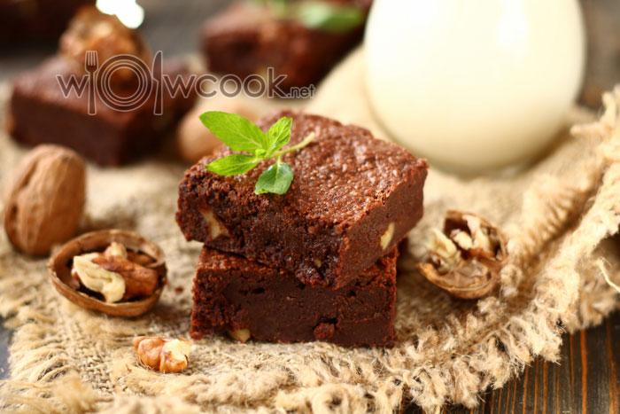 шоколадный брауни с шоколадом
