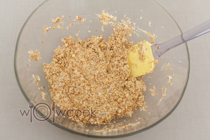 перемешиваем овсяное тесто