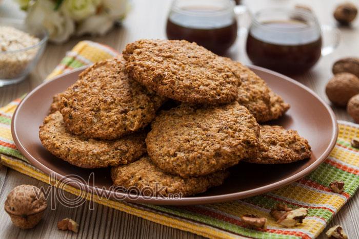 вкусное овсяное печенье с орехами
