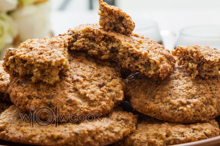 ореховое печенье с хлопьями