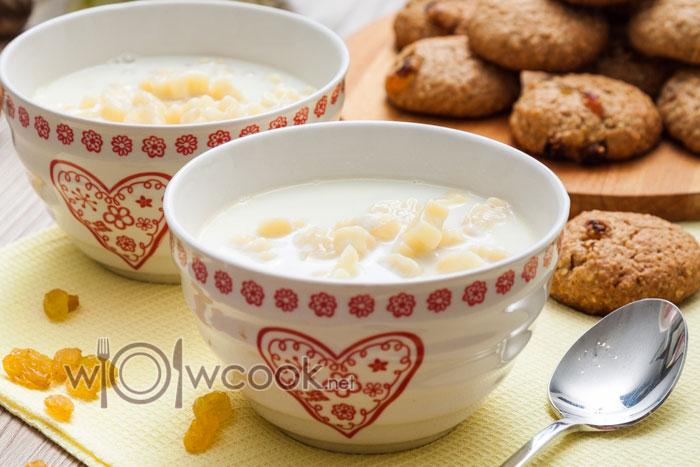 как варить молочный суп с вермишелью рецепт