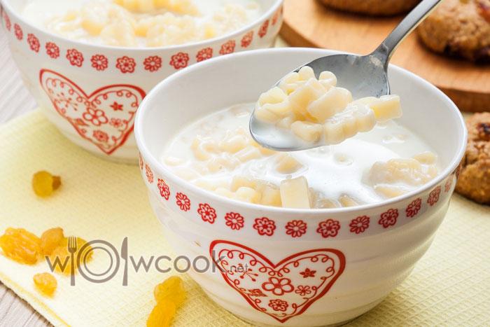 Молочный суп с вермишелью, рецепт