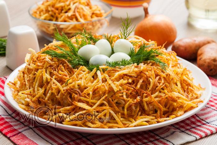 Салат гнездо глухаря, пошаговый рецепт с фото