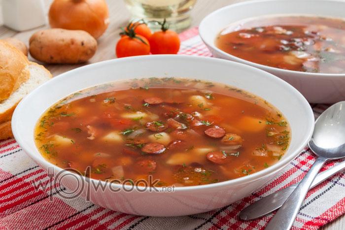 Суп фасолевый из консервированной красной фасоли, рецепт