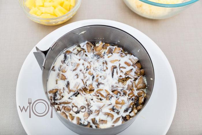 смазываем грибы