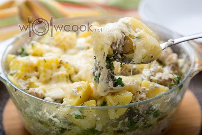 курица с картошкой в сливках в духовке