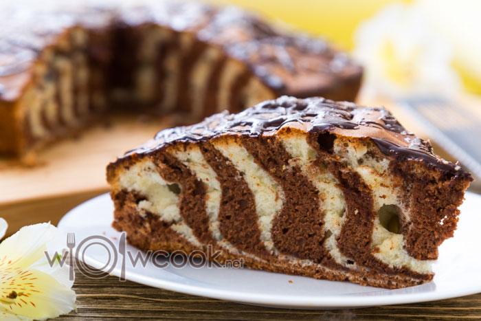зебра пирог рецепт на сметане