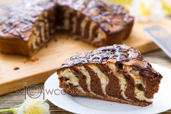 зебра пирог рецепт классический на сметане