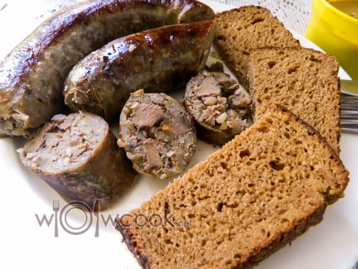 колбаса из печени с гречневой крупой
