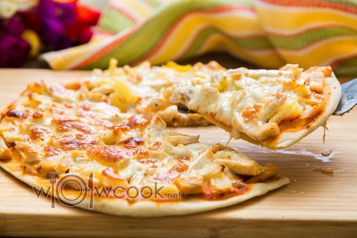 рецепт гавайской пиццы с курицей и ананасами