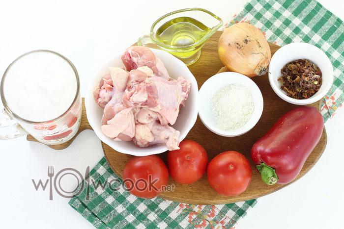 ингредиенты для паприкаша
