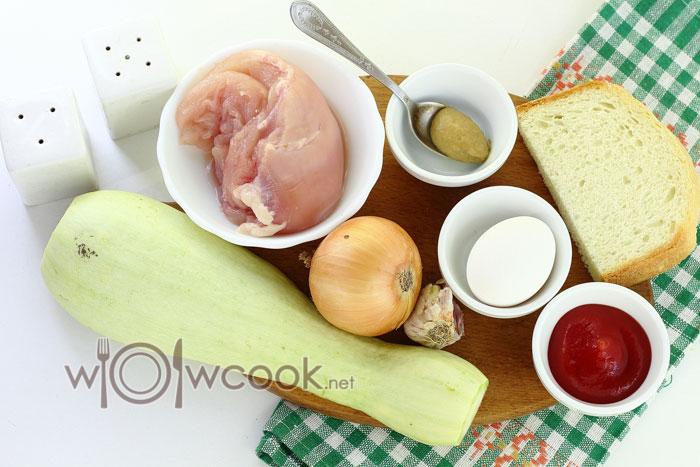 ингредиенты для тефтелей с кабачком