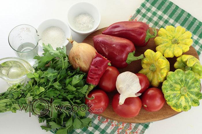 ингредиенты для салата из патиссонов