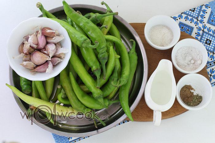 ингредиенты для аджики по-грузински