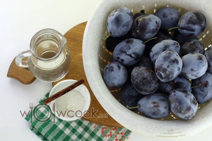 ингредиенты для варенья из слив