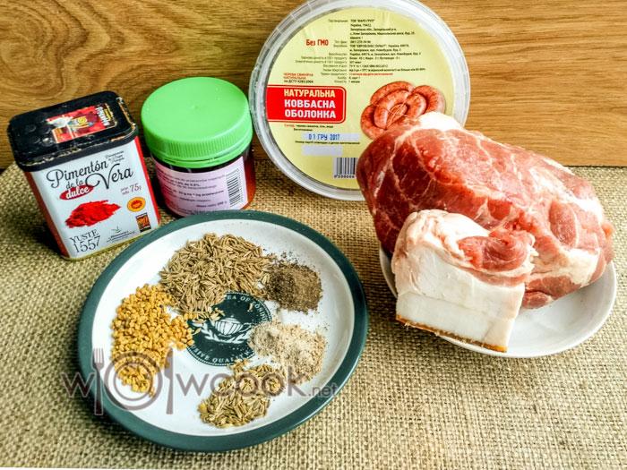 Сыровяленая колбаса в домашних условиях из свинины