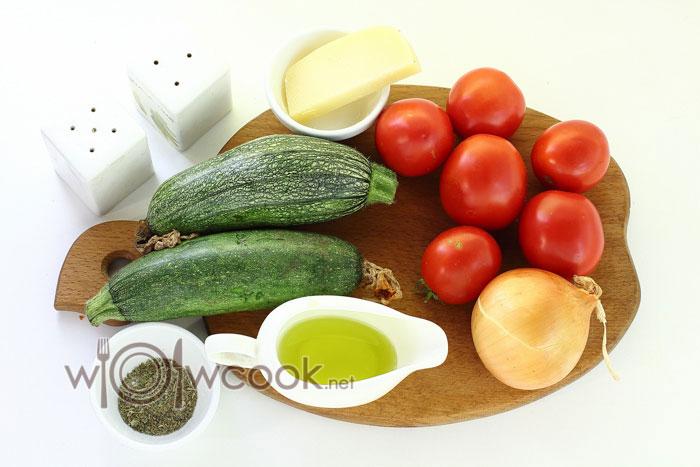 ингредиенты для кабачков запеченных с помидорами