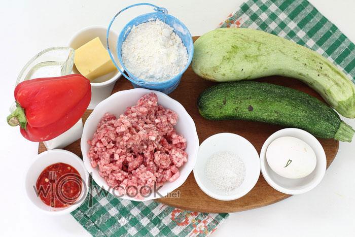 ингредиенты для блинчиков из кабачков