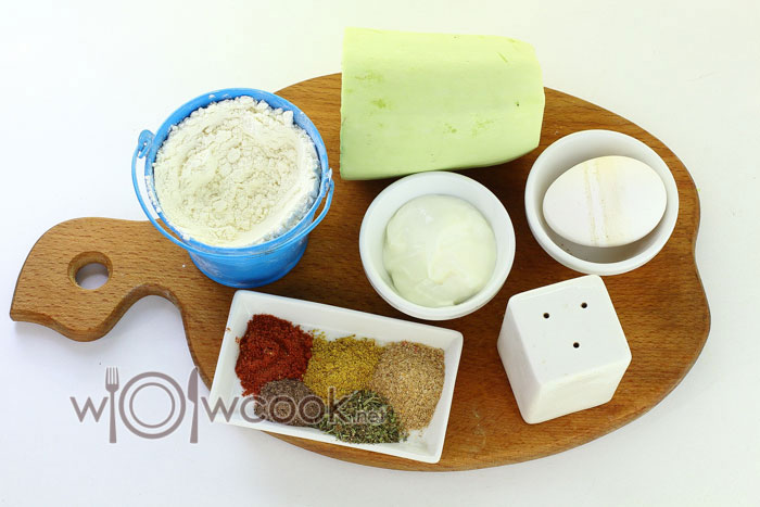 ингредиенты для смайликов из кабачков
