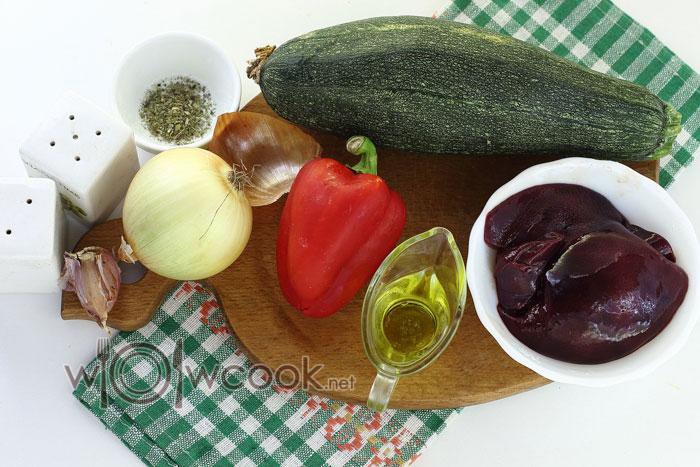 ингредиенты для лодочек из цукини