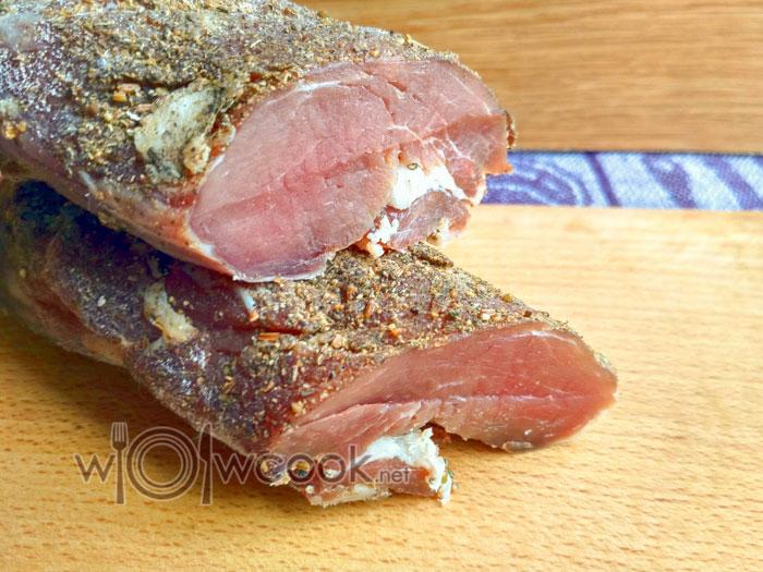 Сыровяленый балык из свинины в домашних условиях - пошаговый рецепт с фото - готовый балык