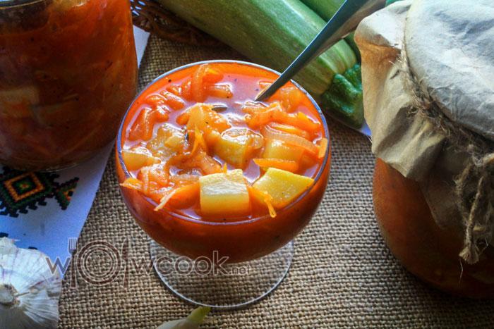 салат из кабачков на зиму рецепт с фото пошагово