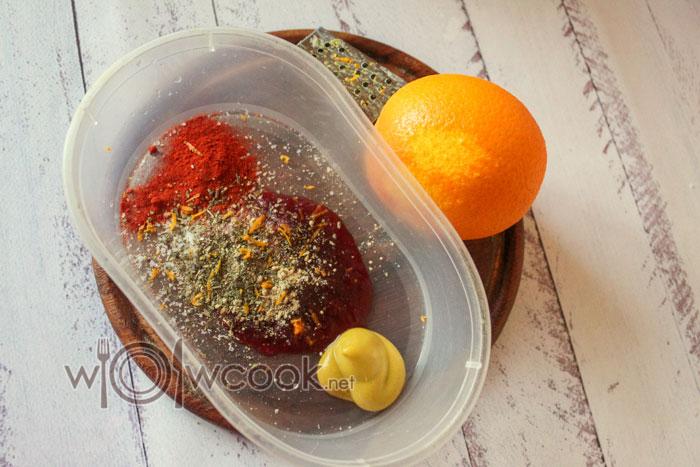 добавляем цедру и сок апельсина