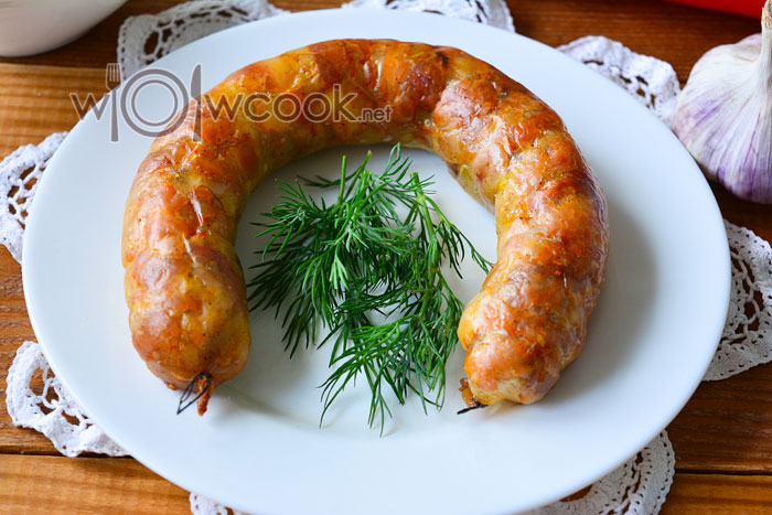Рецепт домашней колбасы в духовке
