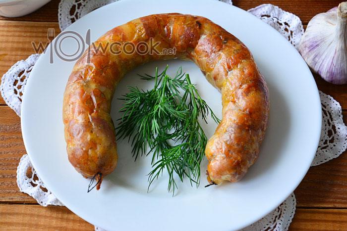 Как приготовить домашнюю колбасу в духовке, рецепт с фото пошагово