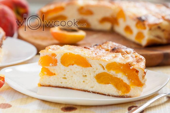 Творожная запеканка с абрикосами в духовке, рецепт с фото