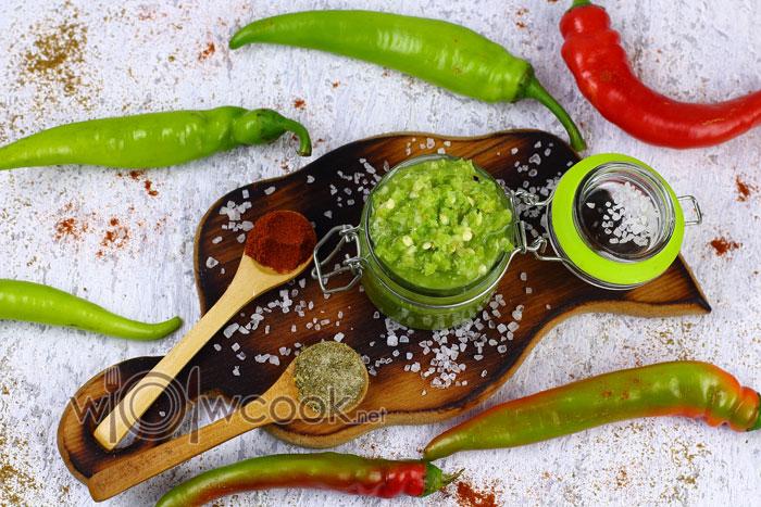 Как приготовить зеленую аджику по-абхазски пошагово с фото