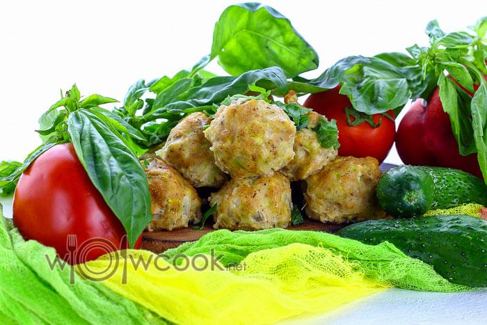Рецепт кабачковых тефтелей с куриным фаршем
