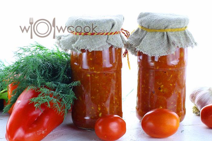 Домашняя аджика: помидоры и перец болгарский на зиму