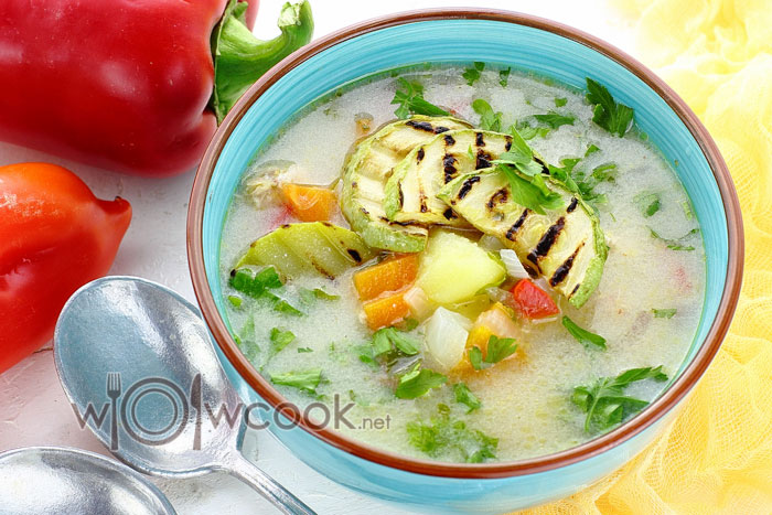 суп с кабачками рецепт с фото