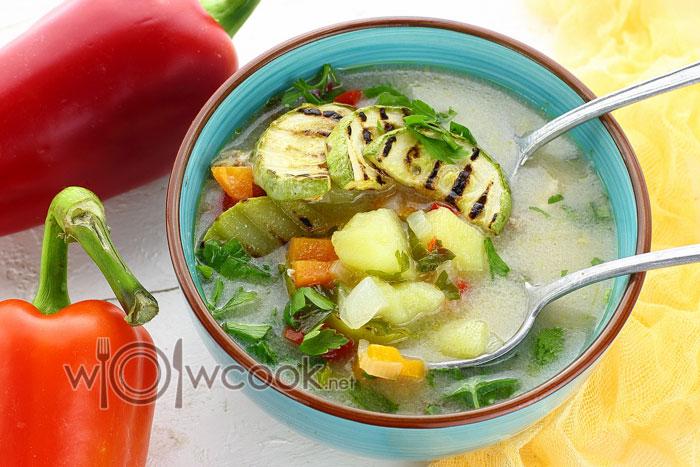 Суп с кабачками самый вкусный