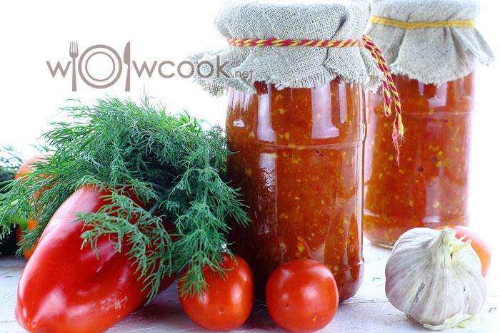 Аджика из перца и помидор на зиму, рецепт с фото