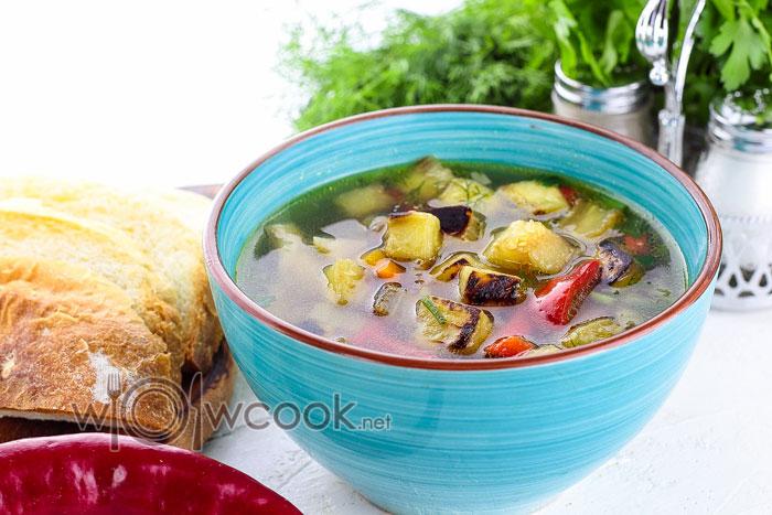 Рецепт грибного супа с баклажанами пошагово с фото