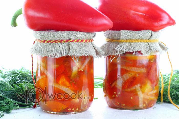 Салат «Донской» на зиму с помидорами и сладким перцем
