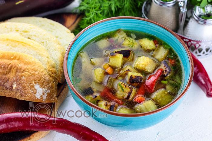 Грибной суп с баклажанами рецепт с фото