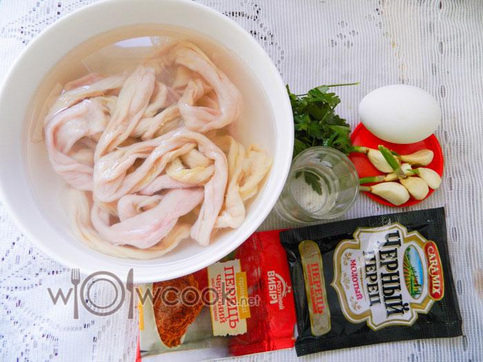 ингредиенты для колбасы из фарша