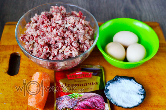 ингредиенты для мясного хлеба из индейки