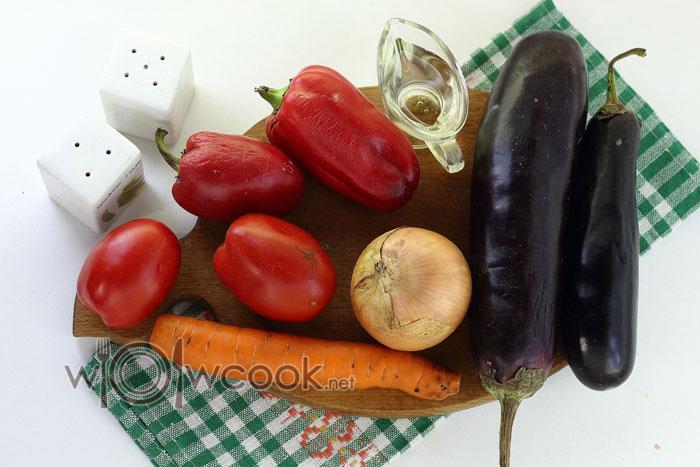 ингредиенты для паштета из баклажан