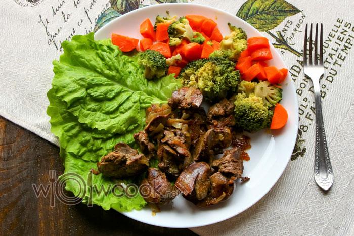 Печень тушеная с овощами рецепт