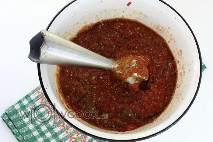 пюрируем печеные овощи