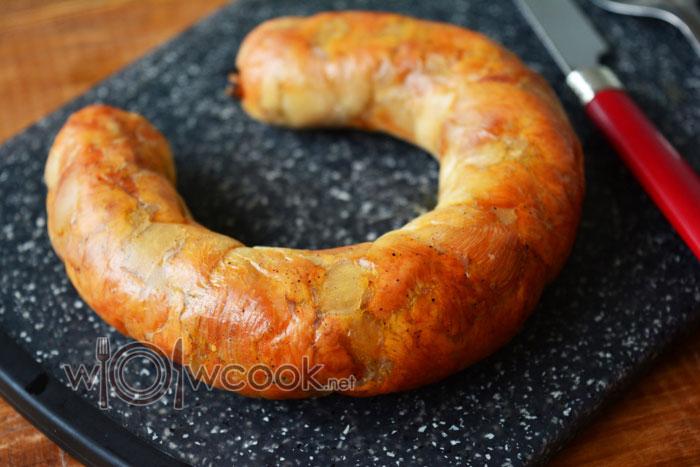 Колбаса из куриных грудок в духовке