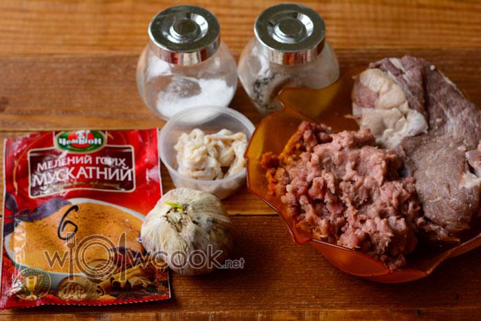 ингредиенты для колбасок для жарки